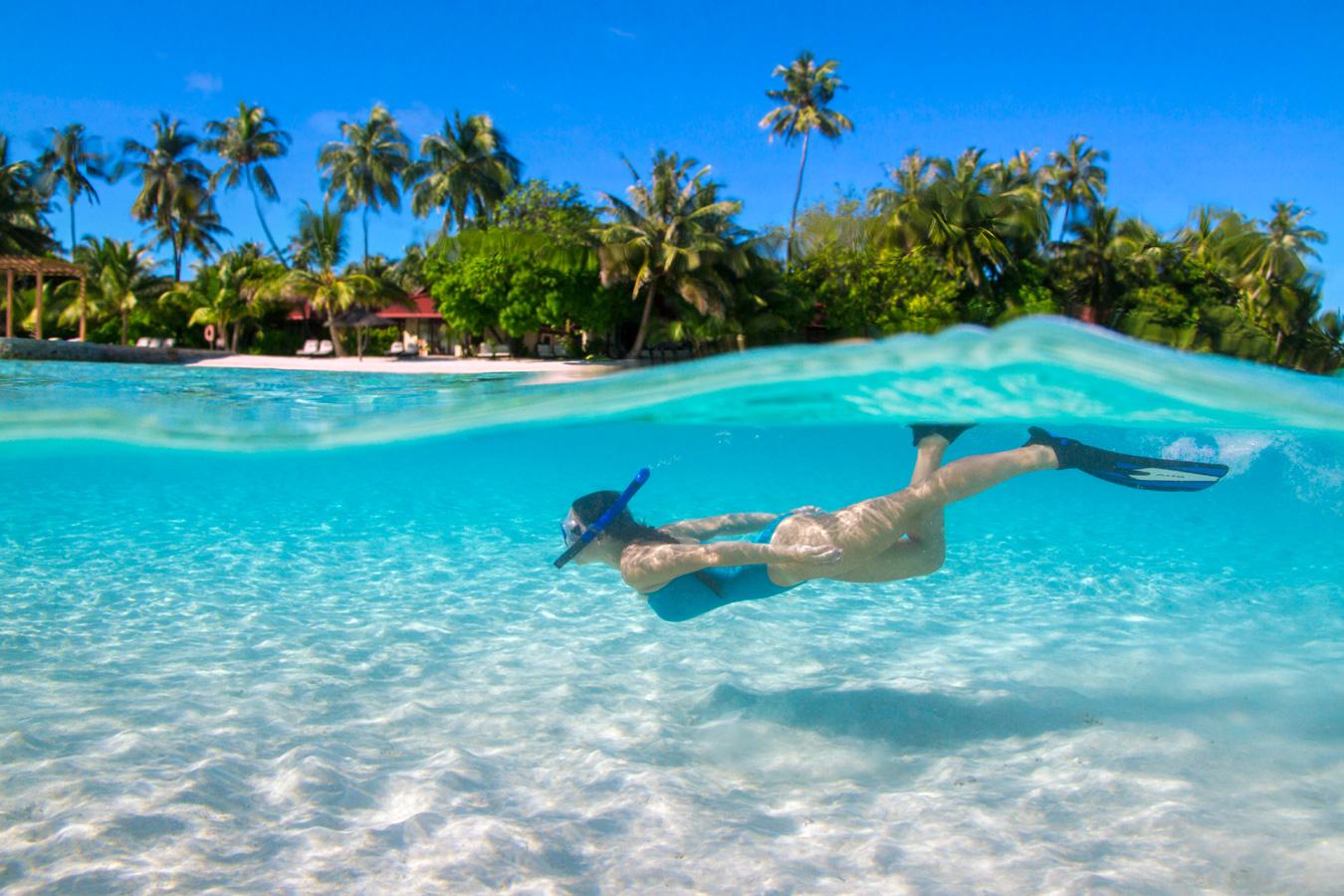 Snorkelling in Maldives
